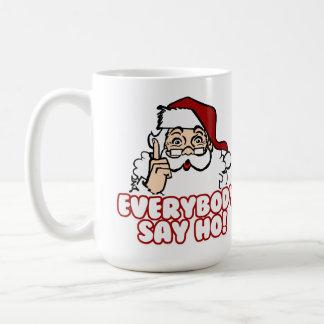 Santa Claus - Everybody Say Ho Classic White Coffee Mug