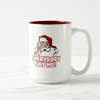 Santa Claus - Everybody Say Ho Two-Tone Coffee Mug