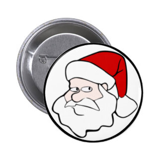 Santa Claus Face Button