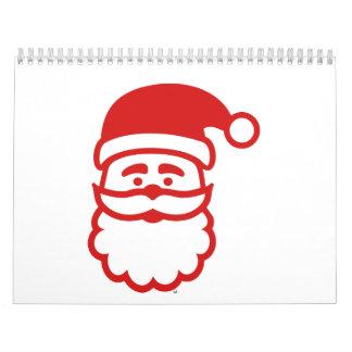 Santa Claus face Calendar