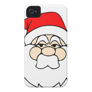Santa Claus Face iPhone 4 Covers