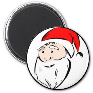 Santa Claus Face 2 Inch Round Magnet