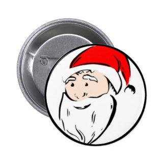 Santa Claus Face Pinback Button