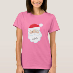 Santa Claus Face with Name T-Shirt