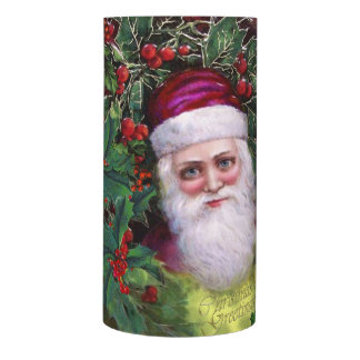 Santa Claus, Father Christmas and Holly Flameless Candle