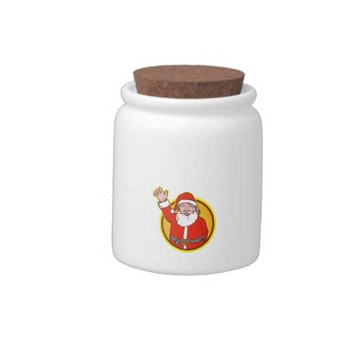 Santa Claus Father Christmas Cartoon Candy Jar