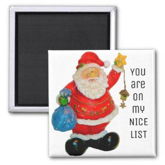 Santa Claus Father Christmas Nice List Magnet