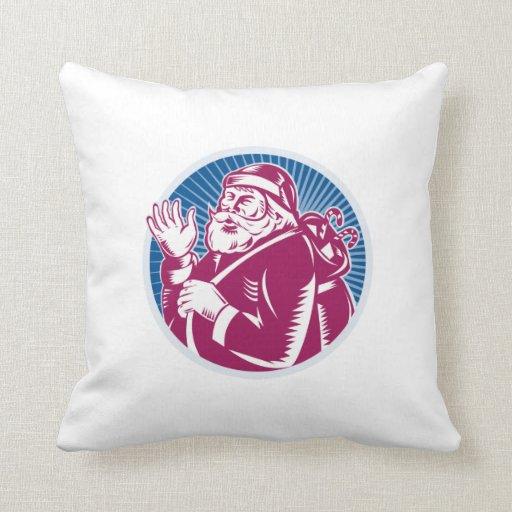 Santa Claus Father Christmas Retro Pillows