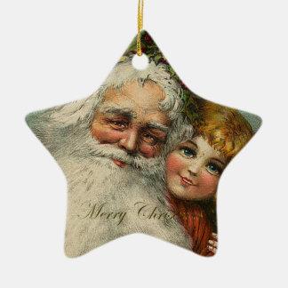 Santa Claus Father Christmas Star Ornament