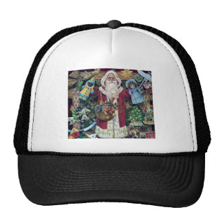 Santa Claus Father Christmas Victorian Art Gifts Trucker Hat