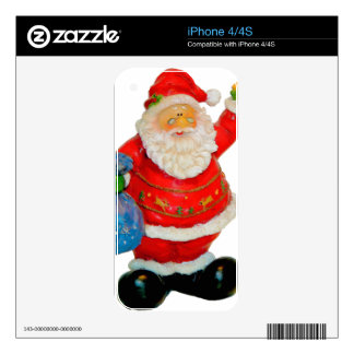 Santa Claus Father Christmas with Bag and Star Skin For The iPhone 4