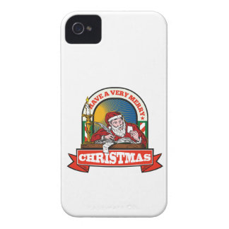 Santa Claus Father Christmas Writing Letter Case-Mate iPhone 4 Case