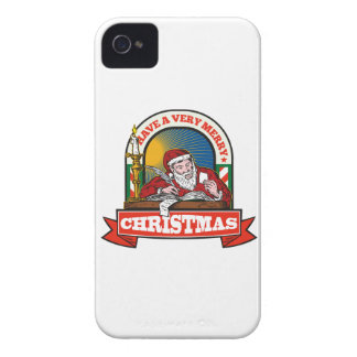 Santa Claus Father Christmas Writing Letter iPhone 4 Cover