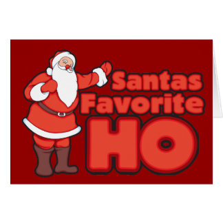 Santa Claus Favorite HO Card