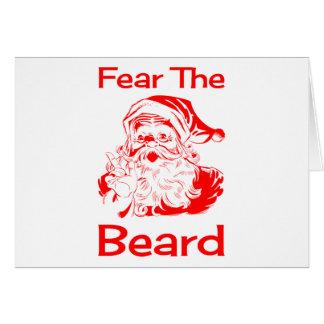 Santa Claus Fear The Beard Funny Card