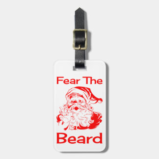 Santa Claus Fear The Beard Funny Tags For Bags