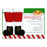 Santa Claus Feet 5x7 Paper Invitation Card