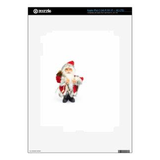 Santa Claus figurine isolated on white background iPad 3 Skin