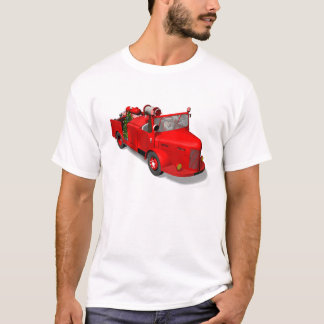 Santa Claus Firefighter In Fire Engine T-Shirt