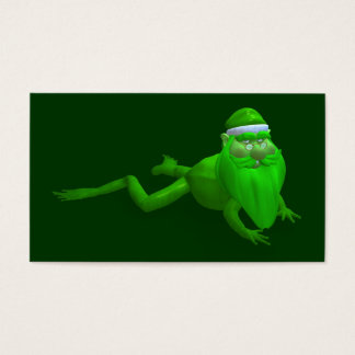Santa Claus Frog Business Card