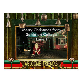 Santa Claus from Light's on College Lane Post Card