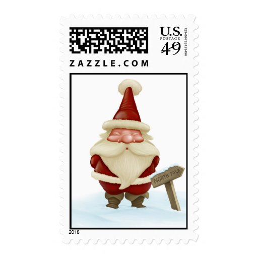 Santa Claus from North Pole Postage Stamp | Zazzle
