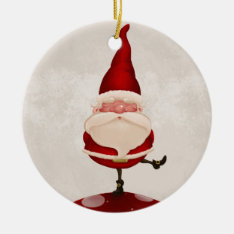 Santa Claus Fungus Ceramic Ornament at Zazzle
