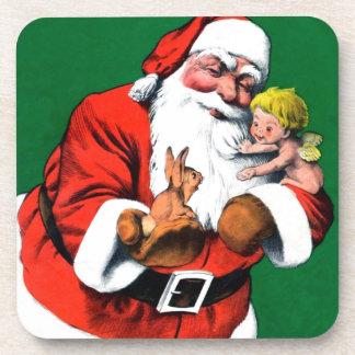 Santa Claus Funnies - Cherub Beverage Coaster