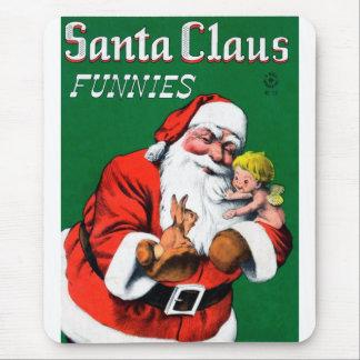 Santa Claus Funnies - Cherub Mouse Pad