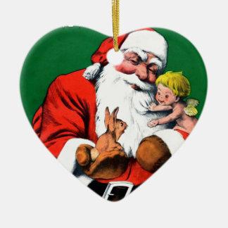 Santa Claus Funnies - Cherub Ornament