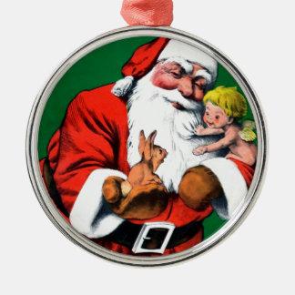 Santa Claus Funnies - Cherub Christmas Ornament