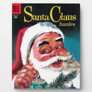 Santa Claus Funnies - Decorating the Tree Plaque