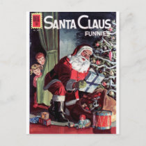 Santa Claus Funnies Holiday Postcard