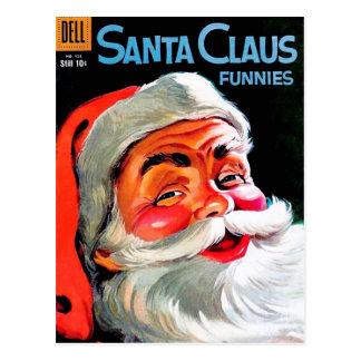 Santa Claus Funnies - Portrait Postcard