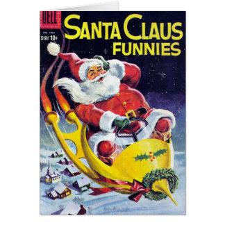 Santa Claus Funnies - Rocket Sled Card