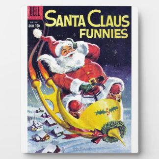 Santa Claus Funnies - Rocket Sled Plaque