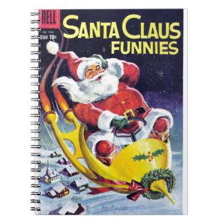 Santa Claus Funnies - Rocket Sled Spiral Notebooks