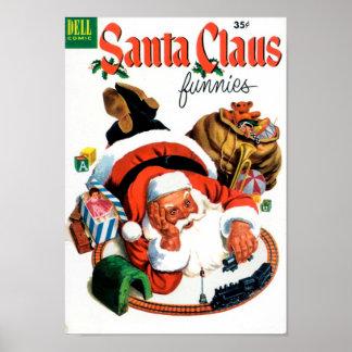 Santa Claus Funnies - Train Set Posters