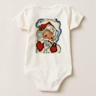 santa claus,genuine,vintage,reproduction,merry xma baby creeper