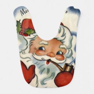 santa claus,genuine,vintage,reproduction,merry xma bibs