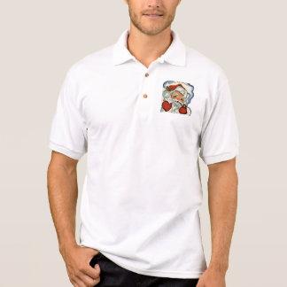 santa claus,genuine,vintage,reproduction,merry xma polo shirt