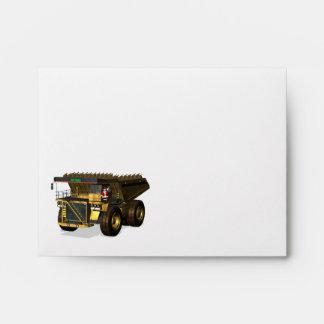 Santa Claus Giant  Dump Truck Driver Envelope