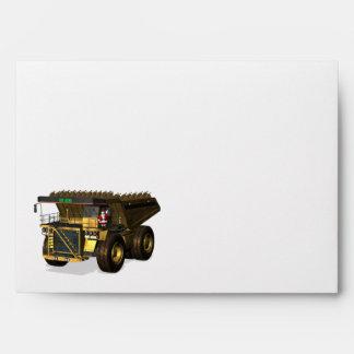 Santa Claus Giant Dump Truck Driver Envelopes