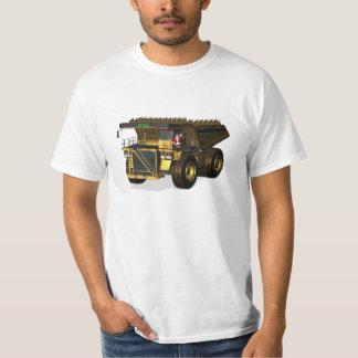 Santa Claus Giant  Dump Truck Driver T-Shirt