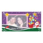 Santa Claus, Gift Box And Cardinal Photo Cards