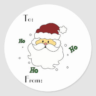 Santa Claus Gift Tags Classic Round Sticker