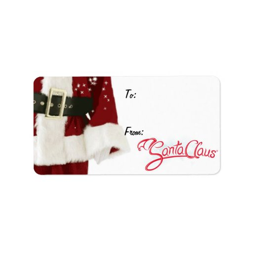 santa claus gift tags with signature label