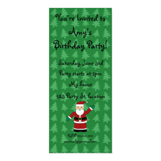 Santa claus gifts 4x9.25 paper invitation card