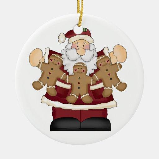 Santa Claus Gingerbread Christmas Ornament