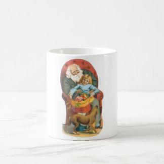 Santa Claus, Girl and Dog Coffee Mug
